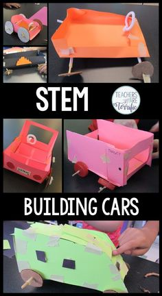 STEM Challenge- Build a car. Empty out your cabinets and let students choose materials to design and build a rolling car! So much fun!
