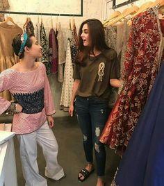 The Gorgeous Maya Ali Selecting her favourite Studio Bridals Earlier Today with her Stylist 😍 ✨ Cute Girl Pic, Cute Girls, Desi Love, Maya Ali, Designer Punjabi Suits, Modest Wear, Pakistani Actress, Saree Dress, Celebs
