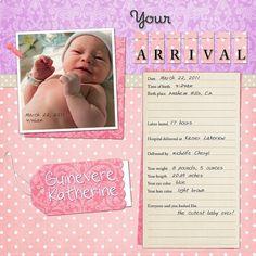 #baby #scrapbook #guinevere