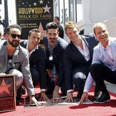 The Backstreet Boys with their star. Best day ever!! 4/22/13