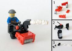 Snowblower - Instructions - to add to the Lego Christmas Village Lego Duplo, Lego Technic, Village Lego, Lego Christmas Village, Christmas Villages, Lego Disney, Lego Winter, Lego Minecraft, Minecraft Buildings