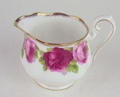 Covered Sugar Bowl Creamer Royal Albert Old English Rose Bone China England | eBay