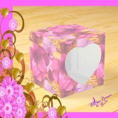 Soft Flowers Peekaboo Heart Favor Box by #MoonDreamsMusic #PeekabooHeart #FavorBox #SoftFlowers #ValentinesDay