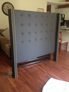 diy tufted headboard completed the total cost of this project was around 125