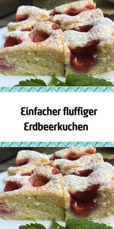 Einfacher fluffiger Erdbeerkuchen My strawberries in the garden are still mostly green but their time will definitely come soon. This simple strawberry cake can also easily bake baking beginners. Baked Goods, Strawberry, Desserts, Breakfast, Muffin, Sweets, Food, Strawberries, Pies