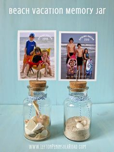 Make It: Beach Vacation Memory Jar | Left on Peninsula Road