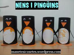 Pingüins molt fàcils de fer amb nens. Paper, Penguins, Infant Activities, Manualidades