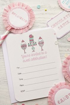 New Fill in the Blank Invitation Packages