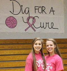 Pope John Paul II Lady Jags volleyball team digging for a cure for breast cancer