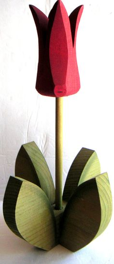 Vintage Wooden Tulips No Watering Needed Arts and by QVintage, $15.00