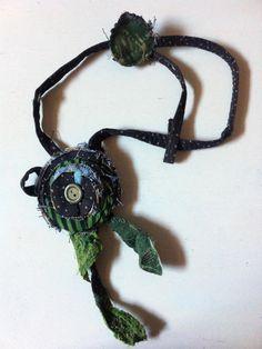 Fabric Necklace (Type2) *Season's flower*2- Creative Recycling collection-handmade-by GiuvaDesign di GiuvaDesign su Etsy