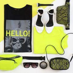 Que tal dar uma colorida em seu guarda-roupa com essa paleta de cores neon? Dá só uma olhada em alguns dos produtinhos que a Marisa preparou para nova coleção. #VemProvar Moda Do Momento, Bra, Boutique, Fashion, Neon Colors, Palette, Wardrobe Closet, Fashion Trends, Trends