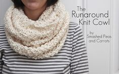Adorable one skein knitted cowl. Totally making this, and soon. Thanks, Smashed Peas and Carrots!