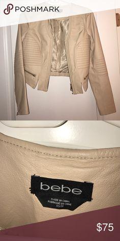 bebe leather coat badge zip up bebe Accessories
