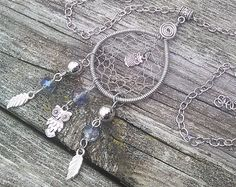 Mushroom Dreamcatcher Necklace Dream by TheEarthDragonsCave