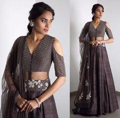Ridhi Mehra # cutout # lehenga # fusion #