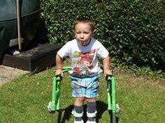 Step by step  My name is Ollie. I have Spastic Diplegia which is a form of Cerebral Palsy.  It means the muscles in my legs are always tight which is very painful and means I am unable to walk without my walker.   http://www.treeofhope.org.uk/step-by-step/