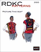 Picture This Vest pattern Eclectic Fabric, Create Your Own Picture, Vest Pattern, Free Pattern, Rachel Clark, Quilted Clothes, Kinds Of Clothes, Fabric Manipulation, Fashion Plates