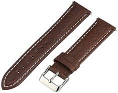 Voguestrap TX77720BN Allstrap 20mm Brown Regular-Length Genuine-Leather Contrast-Stitch Watch Band Check https://www.carrywatches.com
