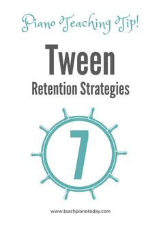 7 strategies for keeping your tween piano students engaged in their piano lessons.