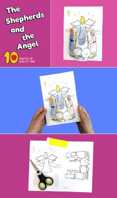 The Shepherds and the Angel Craft Bible Activities For Kids, Bible Crafts For Kids, Bible Lessons For Kids, Christmas Activities, Preschool Crafts, Sunday School Crafts For Kids, Sunday School Activities, Sunday School Lessons, Christmas Bible