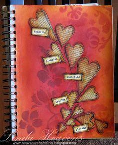 Linda Heavens: Art Journal Hearts