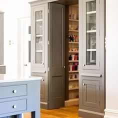 Yes indeed. THIS is what I call a pantry! #provincialkitchens #butlerspantry #kitchendesign #kitcheninspiration