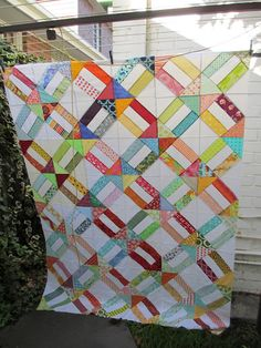 A traditional Cracker Quilt. A great scrap buster!