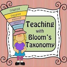 Bloom's Taxonomy, Task Cards, Question Stems, Posters