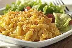 Macaroni and Cheese with a tossed salad~