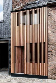 Timber slat facade