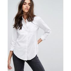 Abercrombie & Fitch Fitted Oxford Shirt ($95) ❤ liked on Polyvore featuring tops, white, travel shirt, slim shirt, oxford shirt, americana shirts and fitted tops