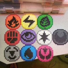 Pokemon Energy Symbols perler beads by kandikidyushi