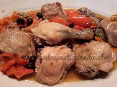 Cucinando e Pasticciando: Cosce di Pollo con Peperoni e Olive