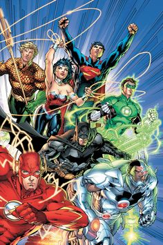 Collects Justice League Written by Geoff Johns. Art and cover by Jim Lee and Scott Williams. Comics superstars Geoff Johns and Jim Lee make history with the first hardcover collection of a DC COMICS - THE NEW 52 series! Marvel Dc Comics, Heros Comics, Hq Marvel, Dc Heroes, Dc Comics Art, Marvel Cinematic, Comic Book Characters, Comic Character, Comic Books Art