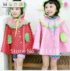 cute little girls' raincoat