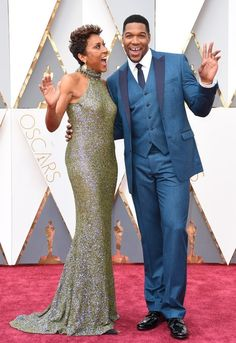 Fashion On The 2016 Oscars Red Carpet Robin Roberts and Michael Strahan