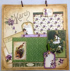 Place In Time March Layout - Scrapbook.com