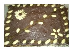 Dried fuit mazurka with chocolate topping