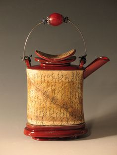 Teapot / 2007, earthenware, silver, glass, paper