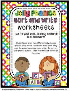 Jolly Phonics Sort and Write Worksheets