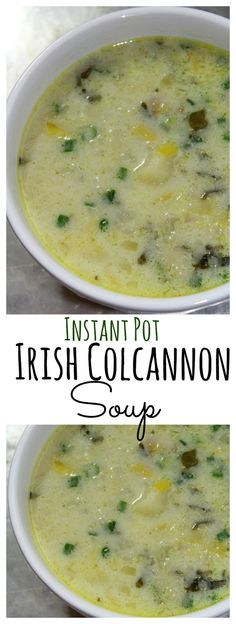 Instant Pot Irish Colcannon Soup. This is a great soup to make for St. Patrick's Day.