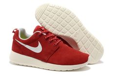 new style 2ad4d b7695 Roshe Run Suede Nike Damesschoenen Online Outlet Winkel  Rood Wit  Red Nike  Shoes