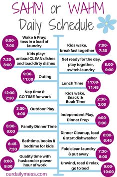 The SAHM Schedule that Will Save Your Sanity - Our Daily Mess