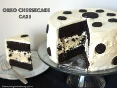 Dessert - Family, Food, and Fun: Oreo Cheesecake Cake Oreo Cheesecake Cake, Oreo Cake, Cheesecake Recipes, Dessert Recipes, Cheesecake Pudding, Oreo Brownies, Caramel Cheesecake, Raspberry Cheesecake, Cupcake Recipes