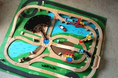 Track Layout Ideas for Your Model Train Train Activities, Children Activities, Train Table, Wooden Train, Thomas The Train, Model Train Layouts, Train Set, Baby Play, Toddler Play