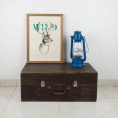 Antigua maleta de madera | Antic&Chic