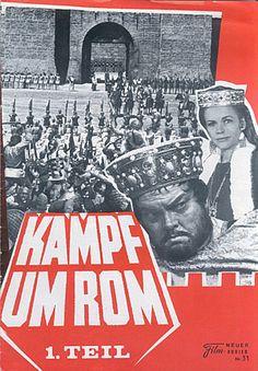 "The Last Roman (1968) ""Kampf um Rom I"" (original title) Stars: Laurence Harvey, Orson Welles, Sylva Koscina, Harriet Andersson, Honor Blackman ~ Directors: Robert Siodmak, Andrew Marton, Sergiu Nicolaescu"