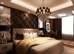 Exclusive Luxury Italian White Leather Bed Art Deco Inspirations