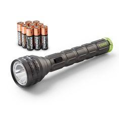 CORE 1250 Lumen CREE LED Flashlight, Red Multi-Color, Aluminum, 9 AA batteries Included